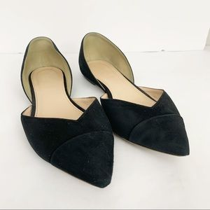 J Crew Suede Pointed Toe Flats size 7